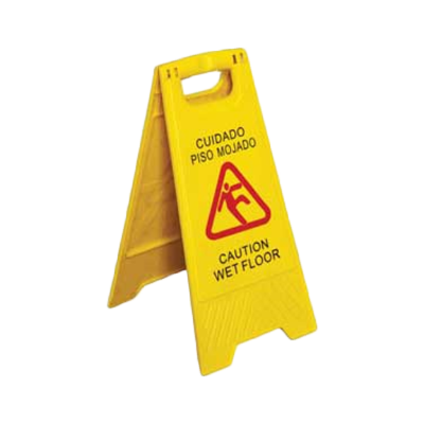 "Royal Industries Royal Industries ROY WS CA Caution Sing, 25"" H  "" Wet Floor"", yellow plastic"