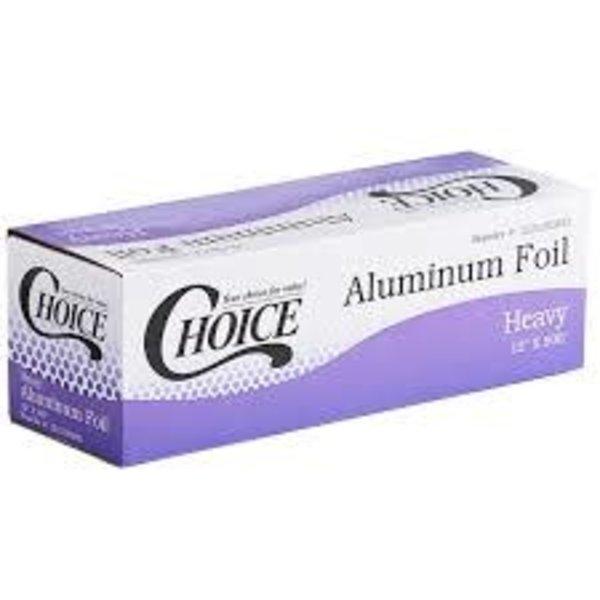 """Choice Choice 12"""" x 500' Food Service Heavy-Duty Aluminum Foil Roll"""