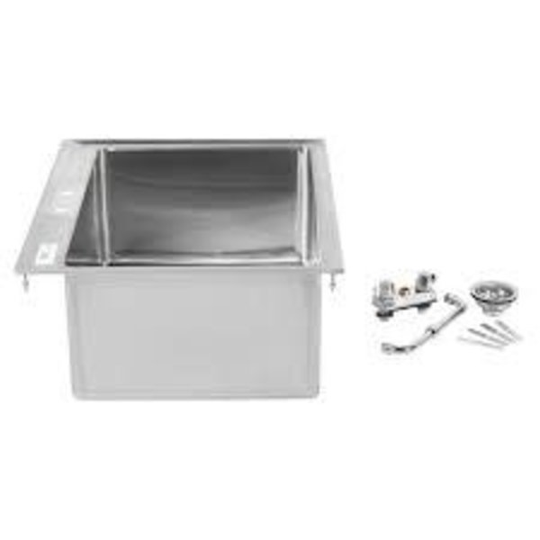 "Regency Regency 600DI12812 Stainless Steel One Compartment Drop-In Sink with 12"" Faucet, 28"" x 20"" x 12"""