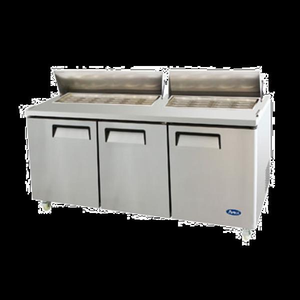 Atosa Atosa MSF8308GR Sandwich/Salad Mega Top Refrigerador, 3 Secciones
