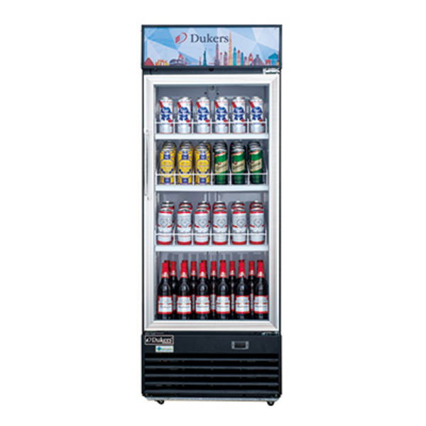 "Dukers Appliance Co Dukers DSM-15R Refrigerated Merchandiser, Reach-In,  One Section, Hinged Doors, 27"" W"
