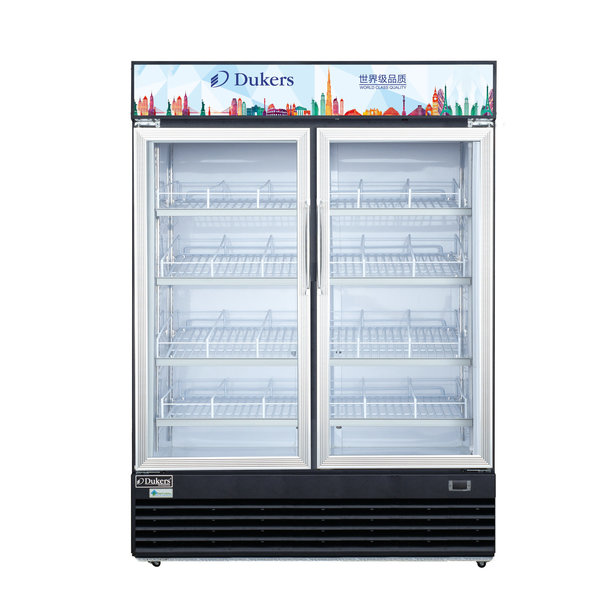 "Dukers Appliance Co Dukers DSM-48R Refrigerated Merchandiser, Reach-In, Two-Section, Hinged Doors, 54""W"