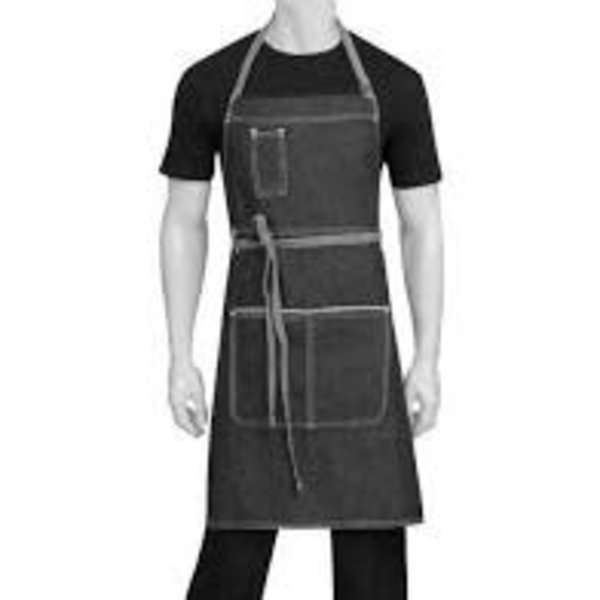 Chef Works Chef Works AB041-BLK-0 Bronx Bib Apron, Denim Black