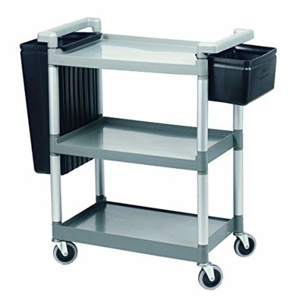 Crestware Crestware LTROLLEY Large 3-Tier Cart, Up to 300 lbs., Gray