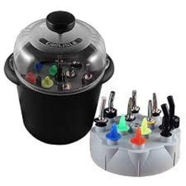 Precision Pour Carlisle PCL Poura-Clean, Pressurized Pump Liqueur Pourer Cleaning System, Black