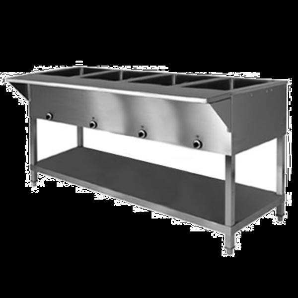 Klinger's Trading Klinger's Trading SW-4H-240/208 Sealed Well Electric Table Stationary 4 Pan
