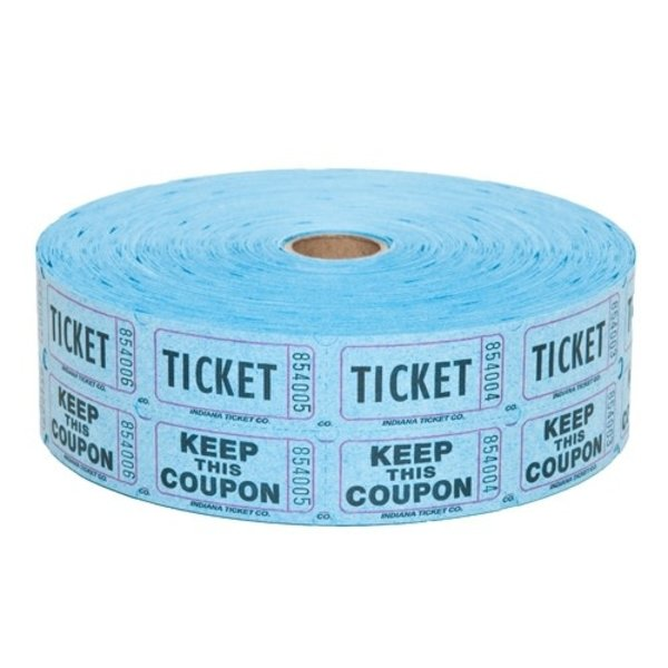 Royal Industries Royal Industries TIC RAF BLUE Double Raffle Tickets Blue / Red