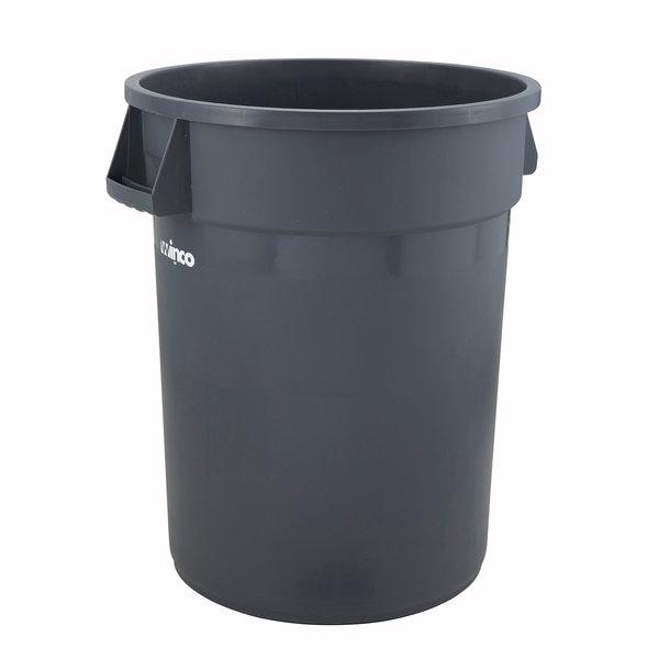 Winco Winco PTC-44G Heavy Duty Trash Can, 44 Gallon, Large, Gray