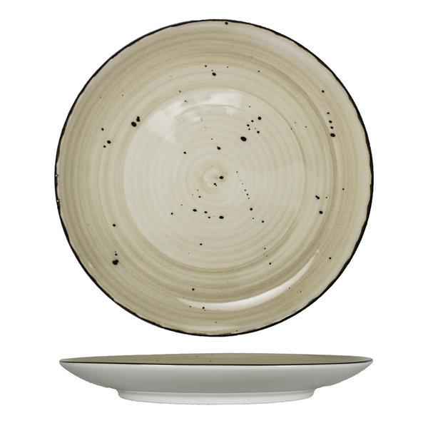 "I.T.I International Tableware International Tableware RT-8-WH  Coupe Plate, Wheat Color, 9"" - 2 Dozen"