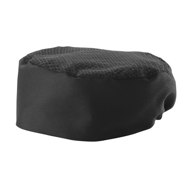 Winco Winco CHPB-3BX Pillbox Chef's Hat, Ventilated, X-Large, Black