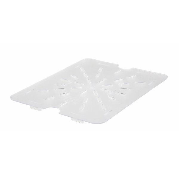 "Winco Winco SP72DS Poly-Ware™ Half Size Drain Shelf, Clear, Polycarbonate, 10-1/4"" x 7-7/8"""