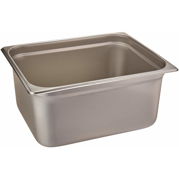 """Winco Winco SPJL-206 Anti-Jamming Steam Table Pan, Half Size, Stainless Steel, Standard Weight, 6"""" Deep"""