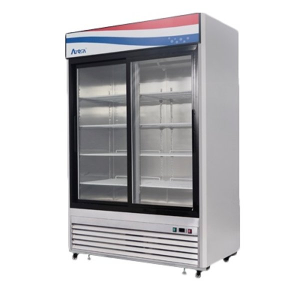 Atosa Atosa MCF8709 Merchandiser Two Section Bottom Mount Self-Contained Refrigeration