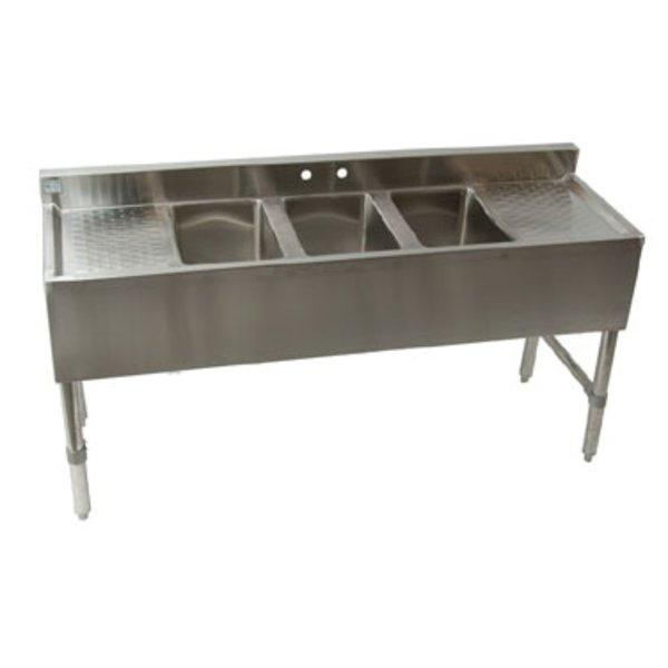 "Klinger's Trading Klinger's Trading BAR32D Underbar Sink Three Compartment 59-1/2""W x 18-3/4""D x 33""H"