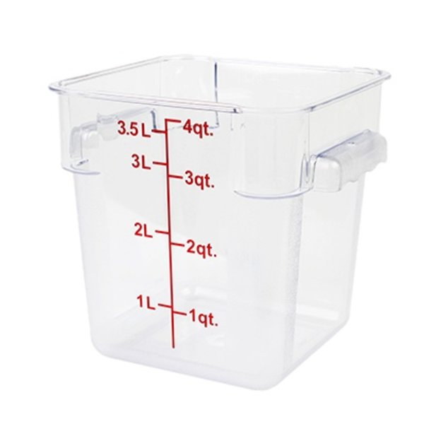 Thunder Group Thunder Group PLSFT004PC Square Food Storage Container 4 qt. Clear