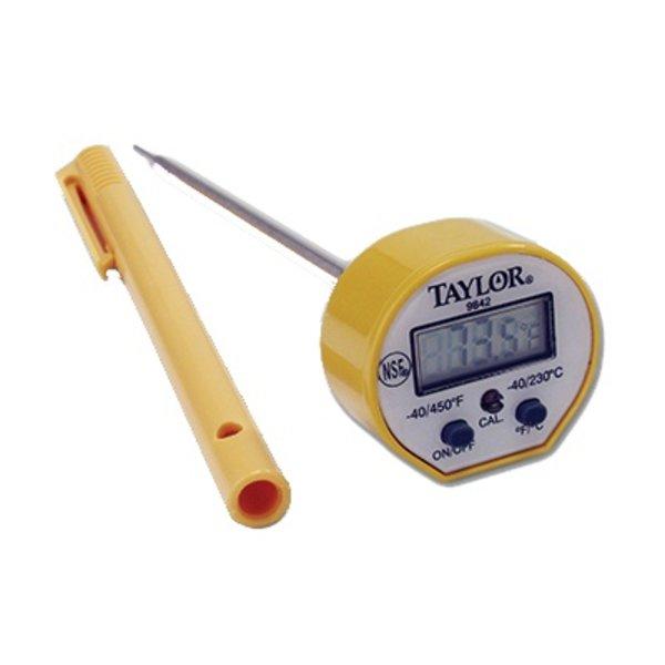 Taylor Taylor 9842FDA Waterproof Pocket Thermometer, Digital, Probe, Instant, Temp range -40° - 450°F
