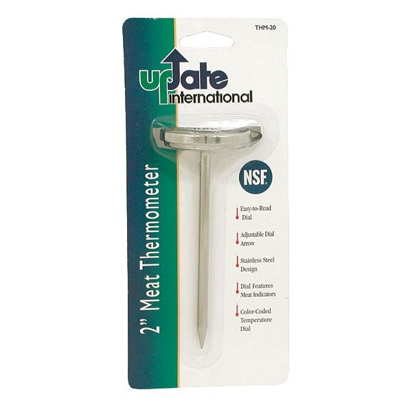 """Update Update THM-20  Meat Thermometer 2"""" Dial 130° - 190°F"""