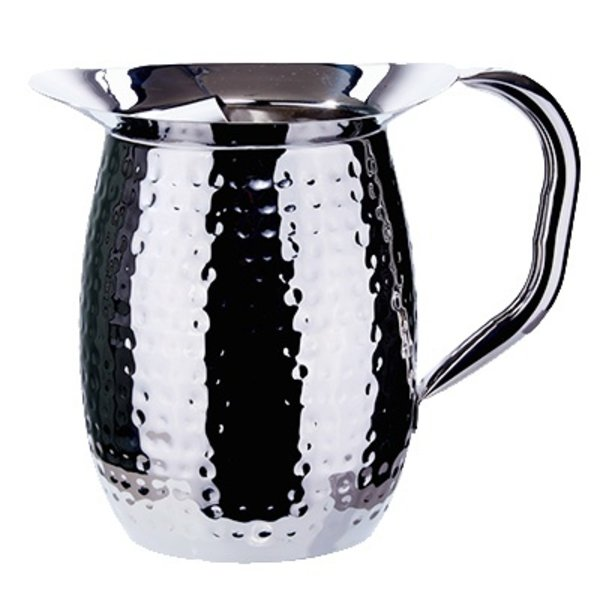 Winco Winco WPB-2CH Bell Pitcher with Ice Catcher, Heavy Weight Stainless Steel, 2 qt.