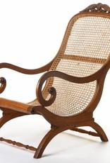Antique - Lawrence Collection Ceylon teak ebonized wood cane chair