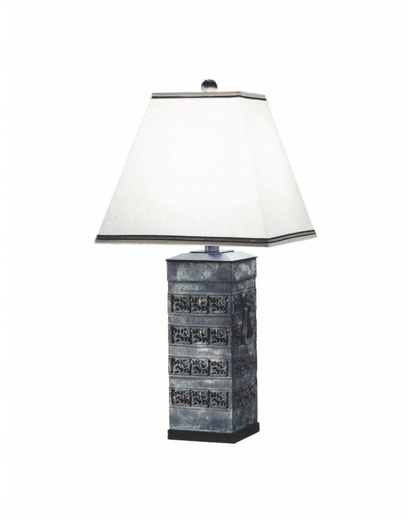 Lawrence & Scott Cleo Table Lamp in Archaic Bronze