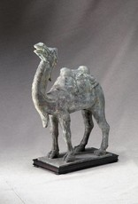 Lawrence & Scott Patinated Verdigris Bronze Bactrian Camel Statue