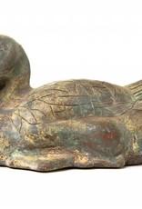 Lawrence & Scott Patinated Verdigris Bronze Duck