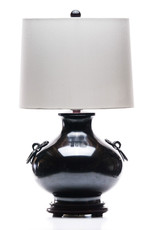 Lawrence & Scott Ayako Onion Brass Lamp with Ring