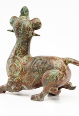 Lawrence & Scott Patinated verdigris bronze Monkey Dragon