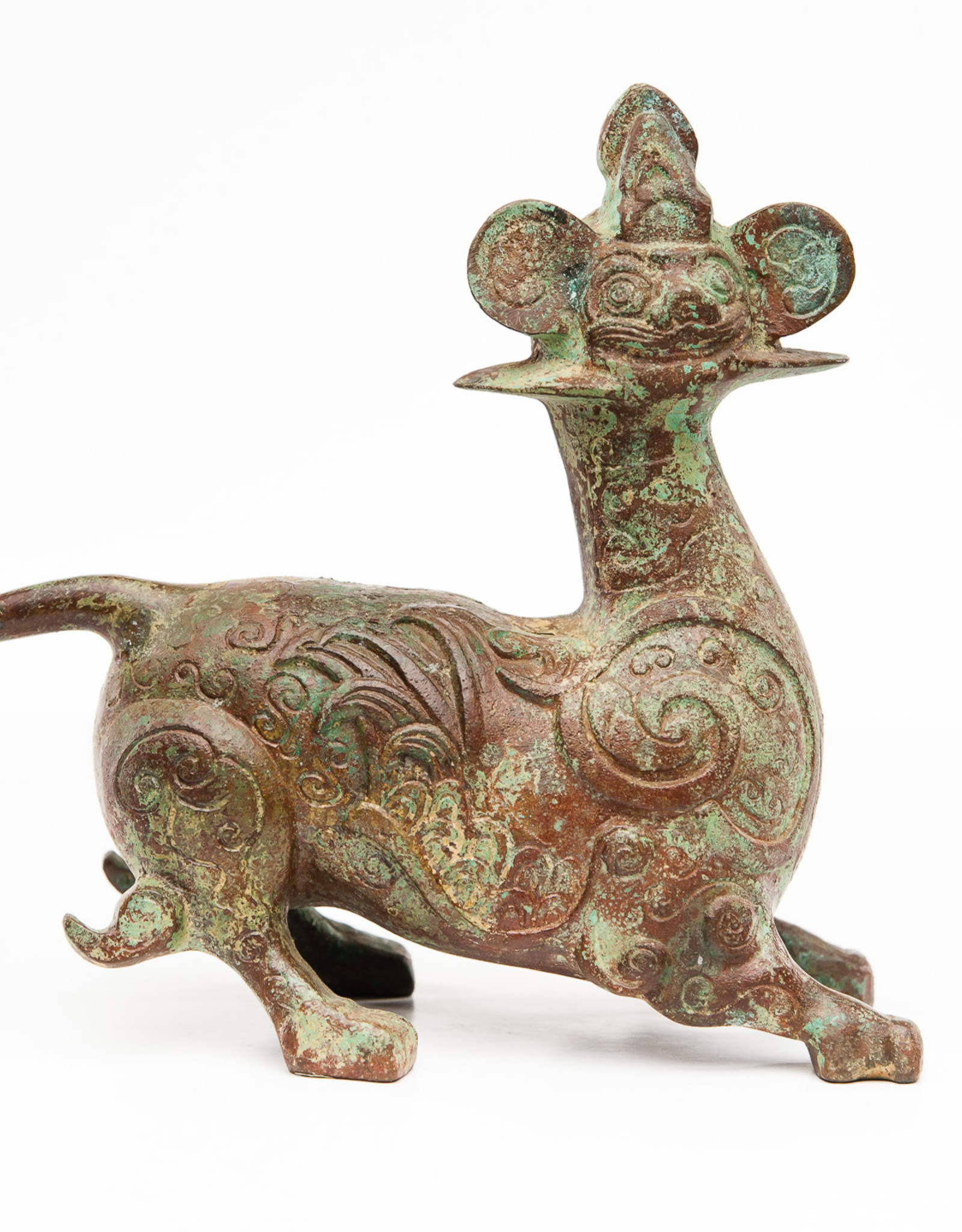 Lawrence & Scott Patinated verdigris bronze Monkey Dragon
