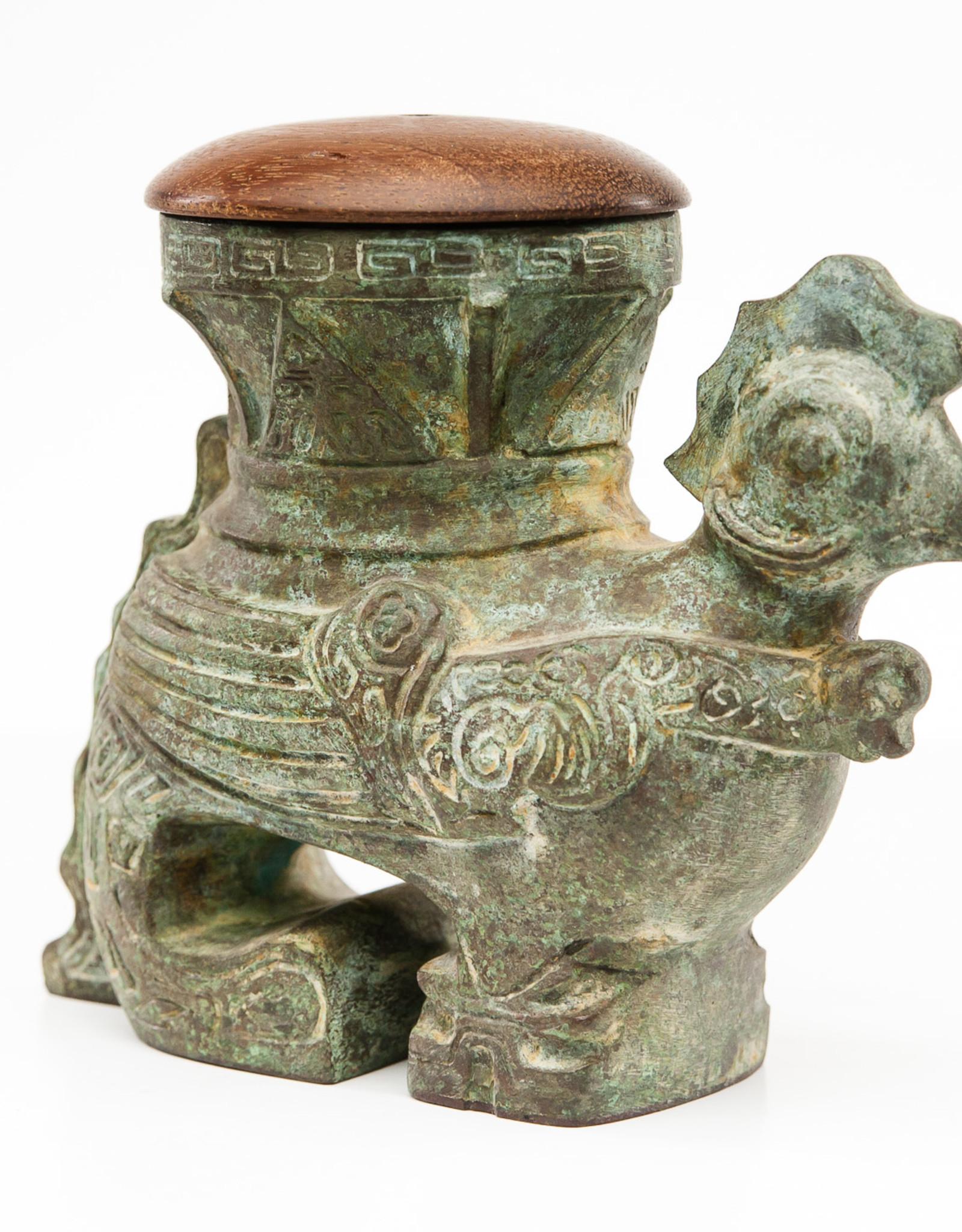 Lawrence & Scott Verdigris Bronze Rooster Box