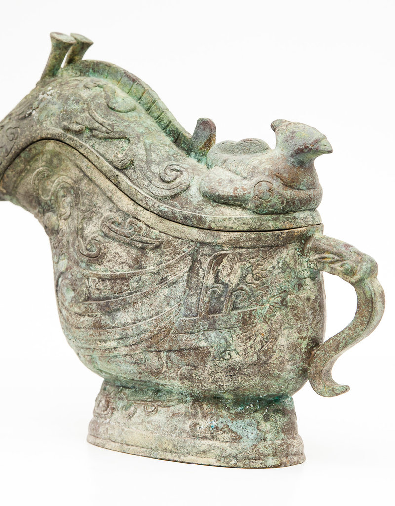 Lawrence & Scott Large Verdigris Bronze Snail Box