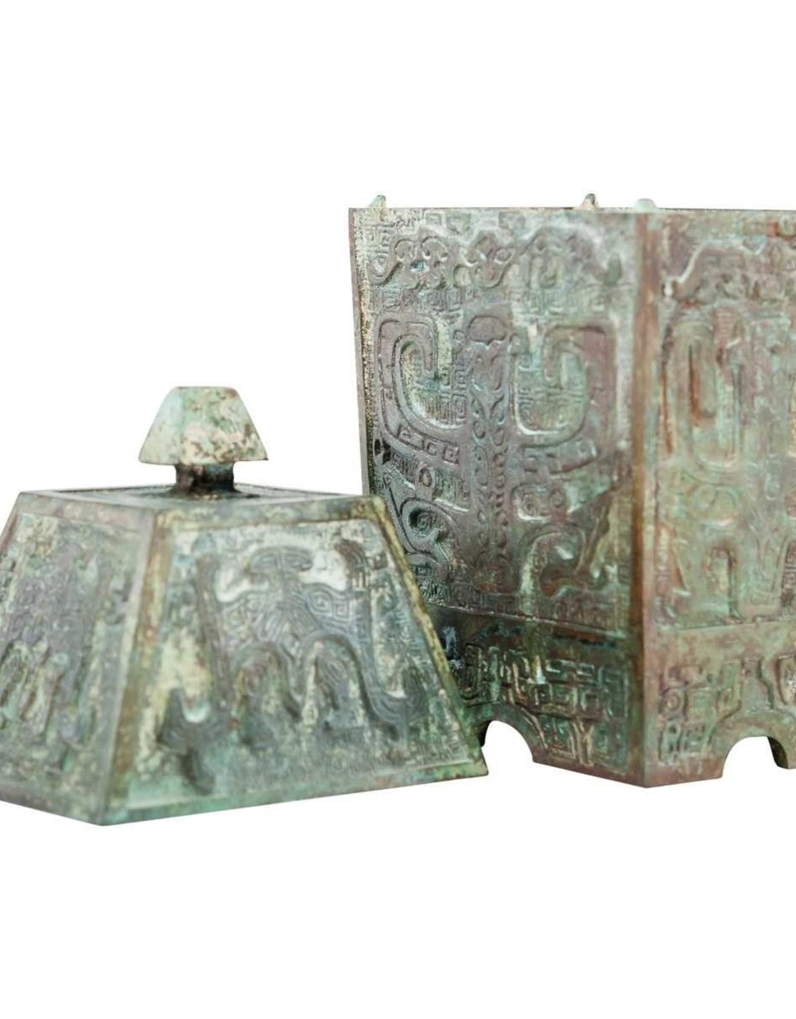 Lawrence & Scott Verdigris Bronze Wine Vessel