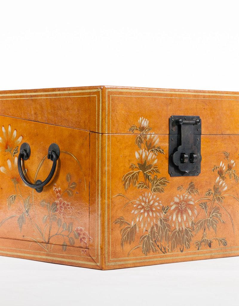 """Lawrence & Scott Water Buffalo Hide Leather Box 14.5"""""""
