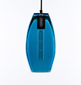 LUMI Collection Elettra Pendant in Peacock Blue