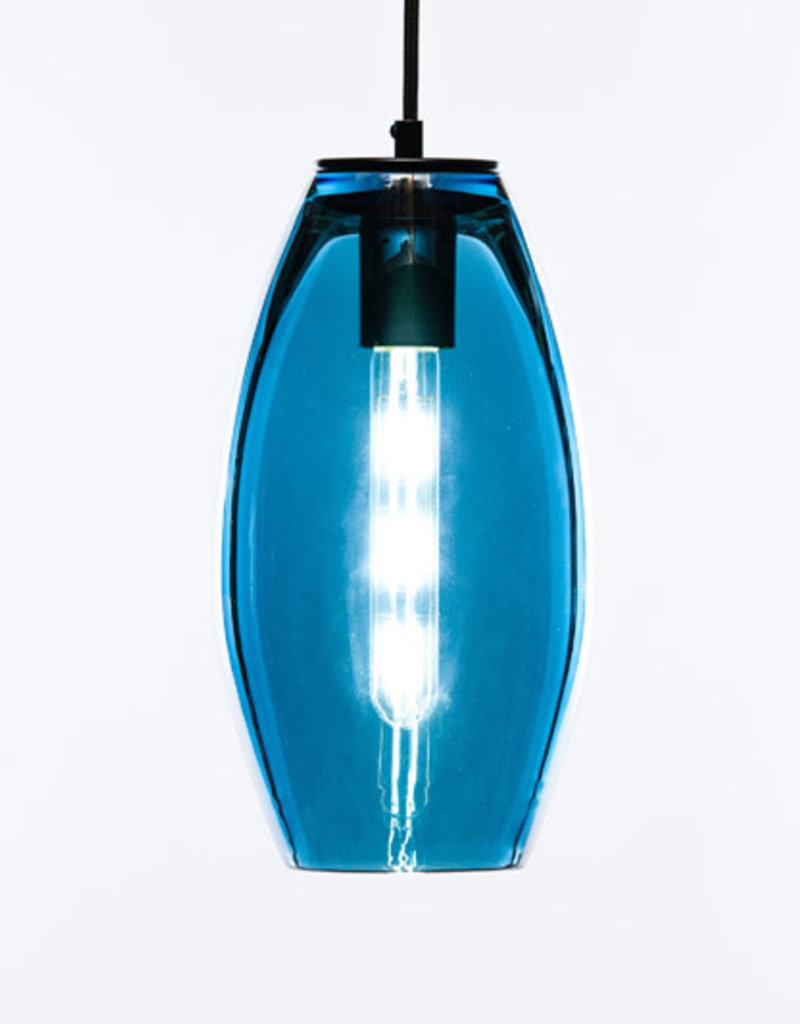 LUMI Collection LUMI Collection Elettra Pendant in Peacock Blue