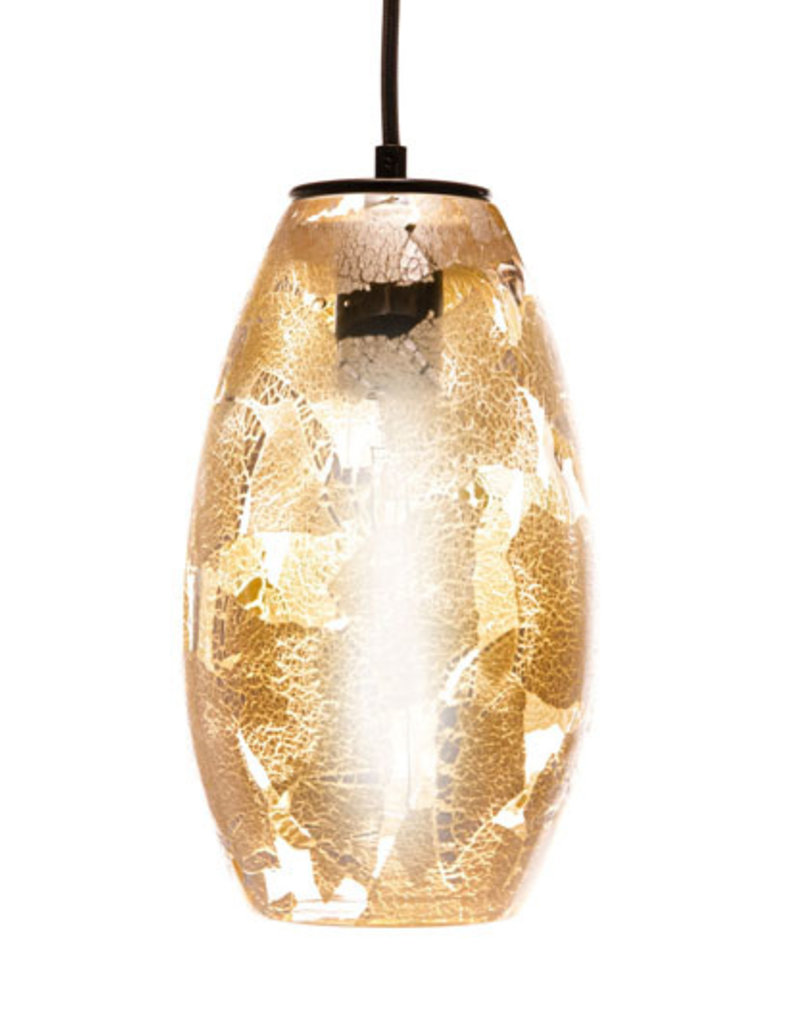 LUMI Collection Elettra Pendant in Silver Leaf Overlay