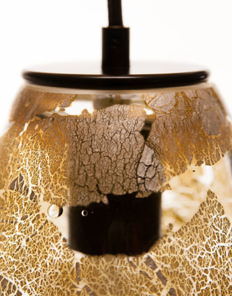LUMI Collection LUMI Collection Elettra Pendant in Silver Leaf Overlay
