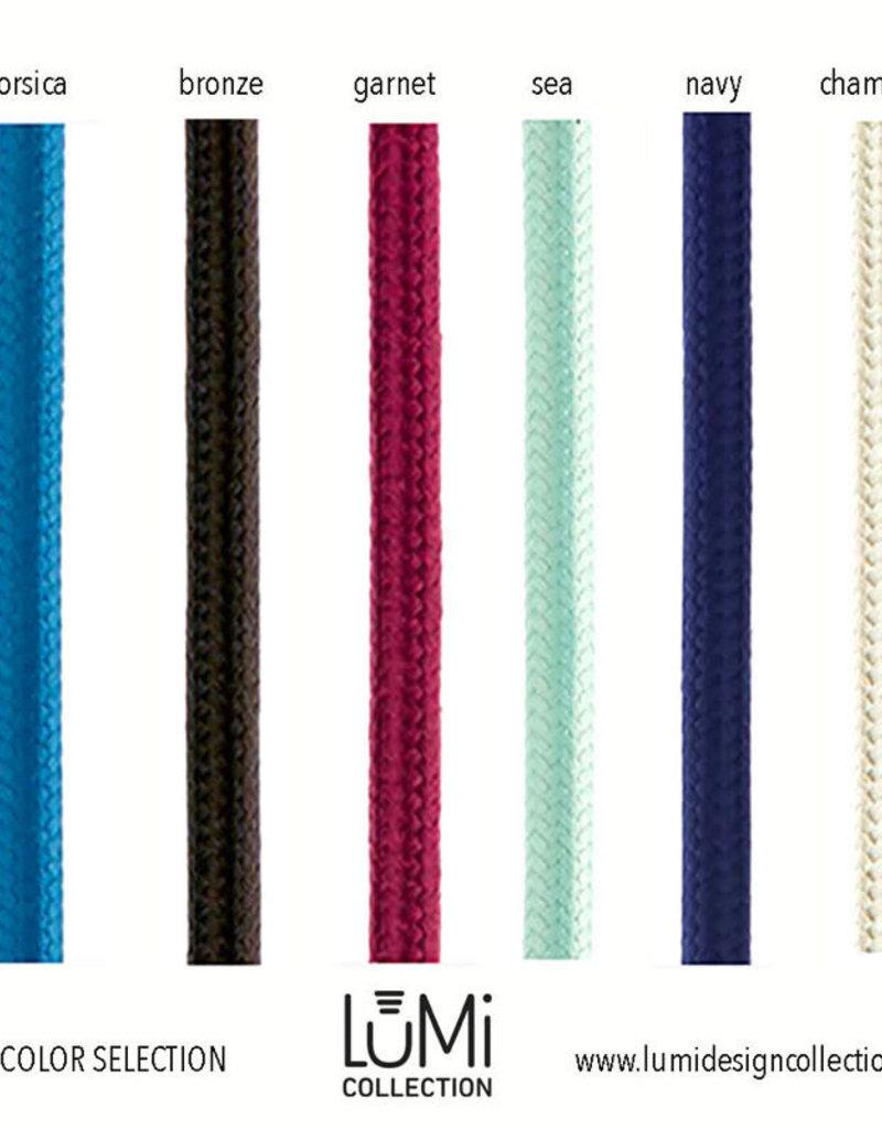 LUMI Collection Elettra Pendant in Rose Quartz