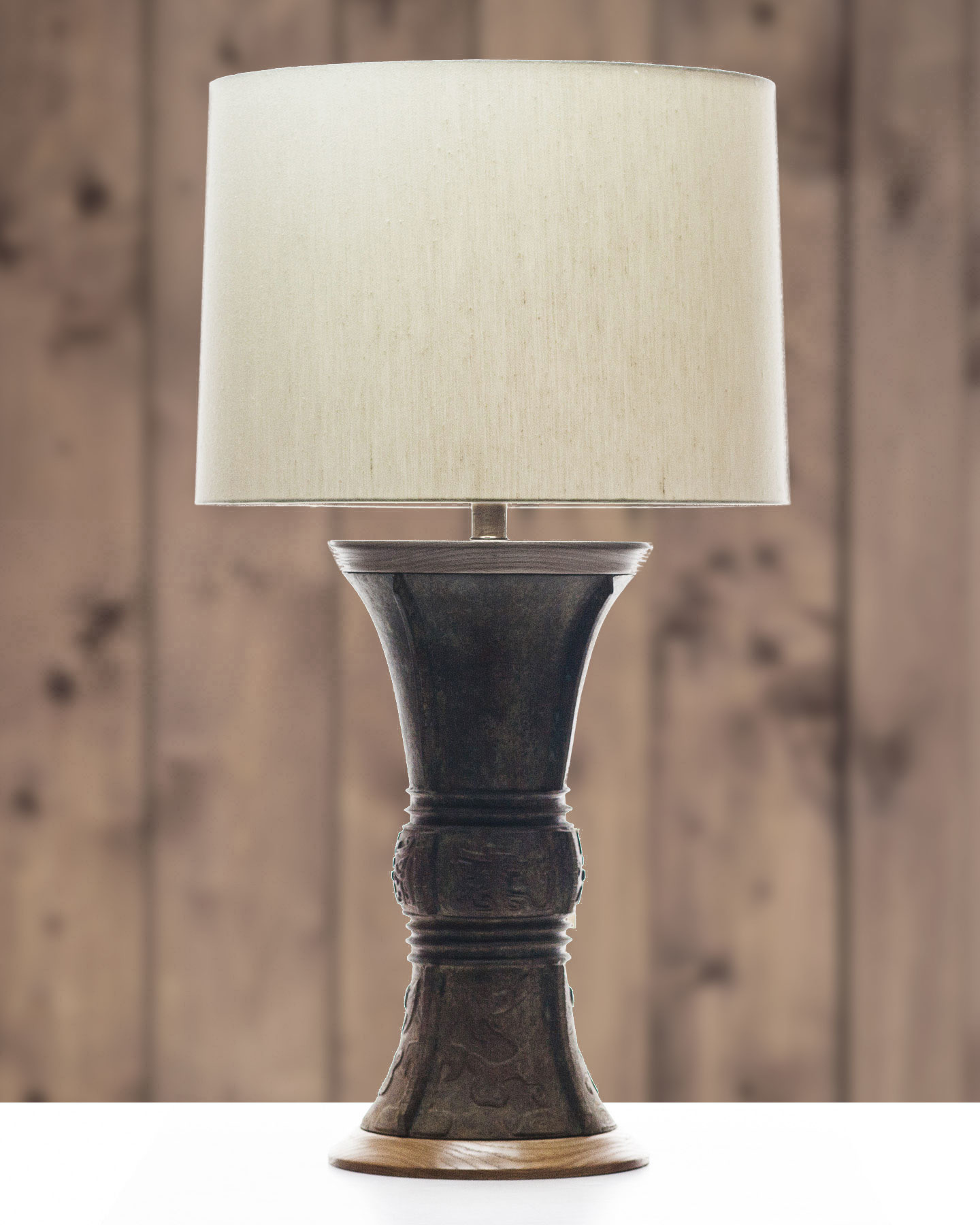 Lawrence and Scott Luxury Verdigris Bronze Table Lamps