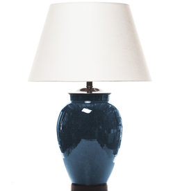 Lawrence & Scott Wheel Thrown Porcelain Ocean Crackle Lamp, Ocean Glaze