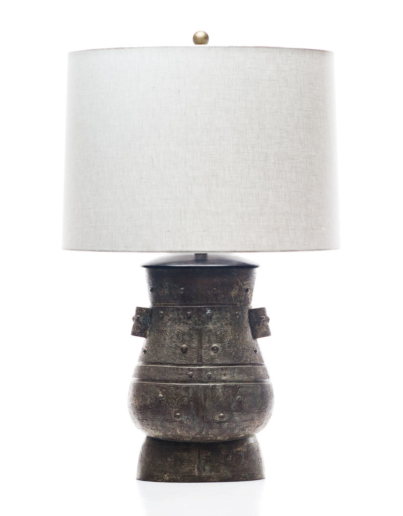Lawrence & Scott Hogo Table Lamp in Archaic Bronze