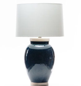 Lawrence & Scott Sybil Porcelain Table Lamp in Ocean Glaze