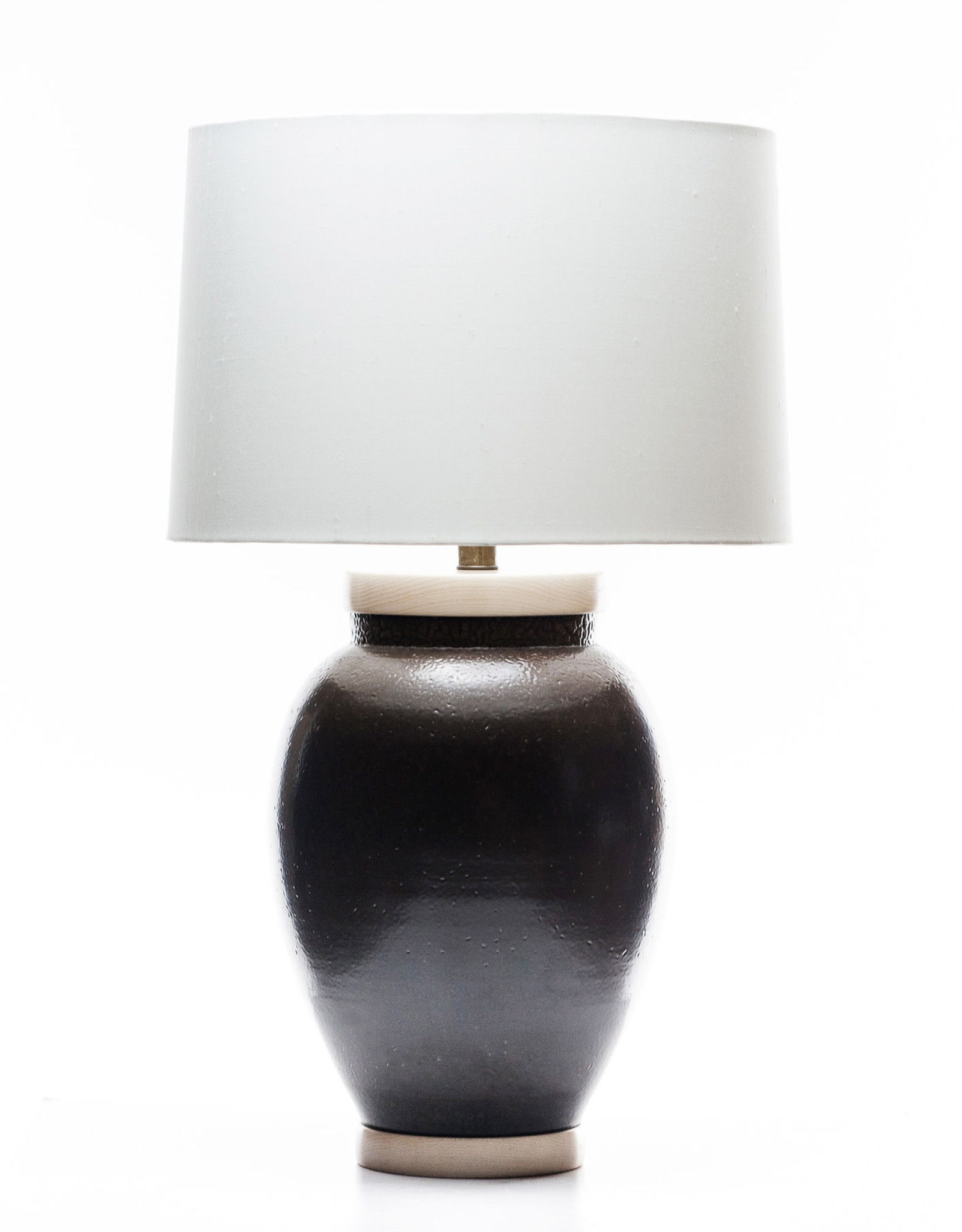 Lawrence & Scott Sybil Porcelain Table Lamp in Espresso Glaze
