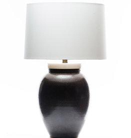Lawrence & Scott Sybil Porcelain Table Lamp in Espresso Glaze