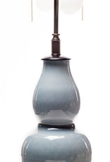 Lawrence & Scott Legacy Scarlett Porcelain Table Lamp in Gray with Rosewood Base