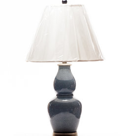 Lawrence & Scott Legacy Scarlett Table Lamp in Sky Blue Crackle