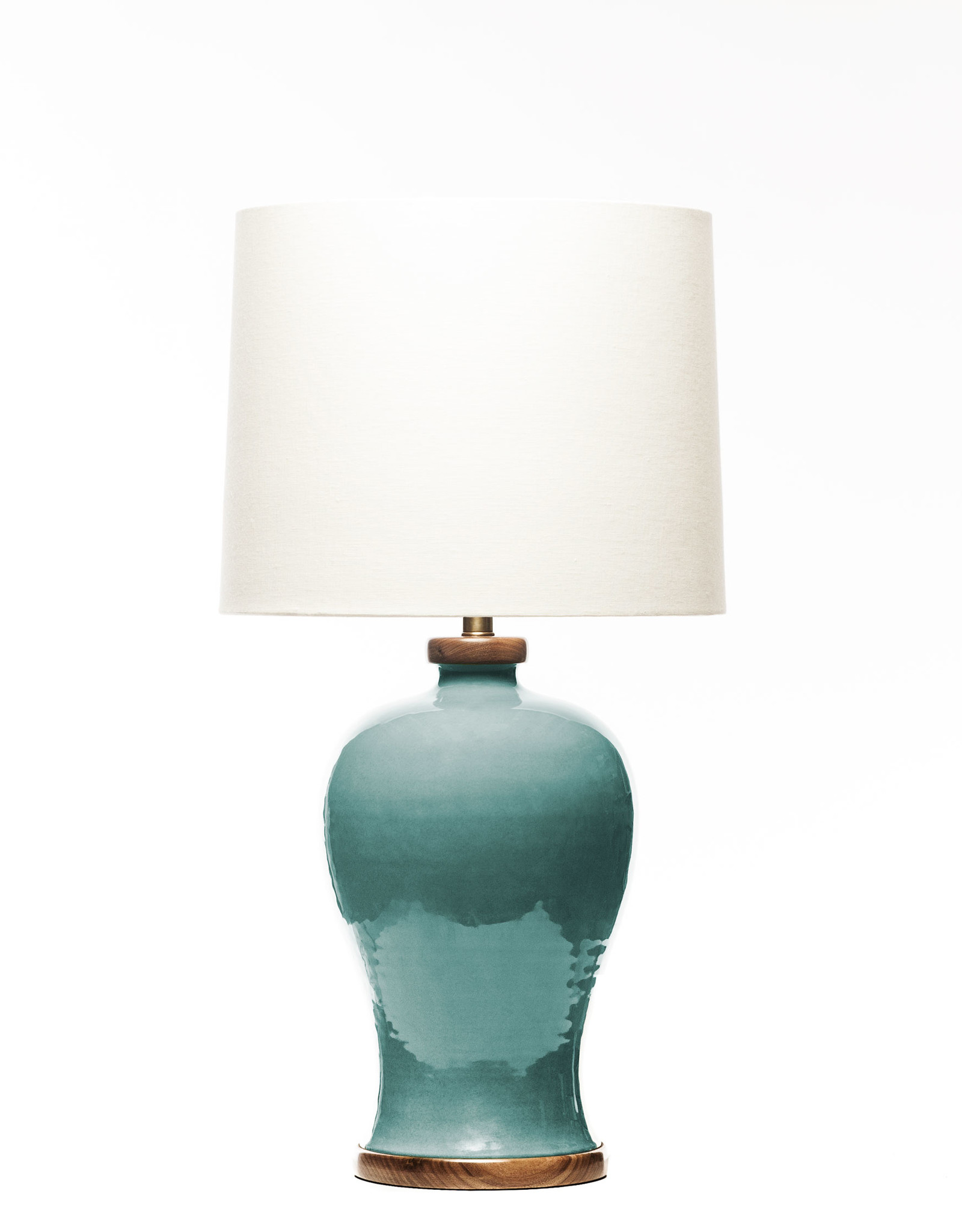 Lawrence & Scott Dashiell Table Lamp in Aquamarine