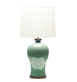 Lawrence & Scott Dashiell Table Lamp in Aquamarine Crackle (Walnut)