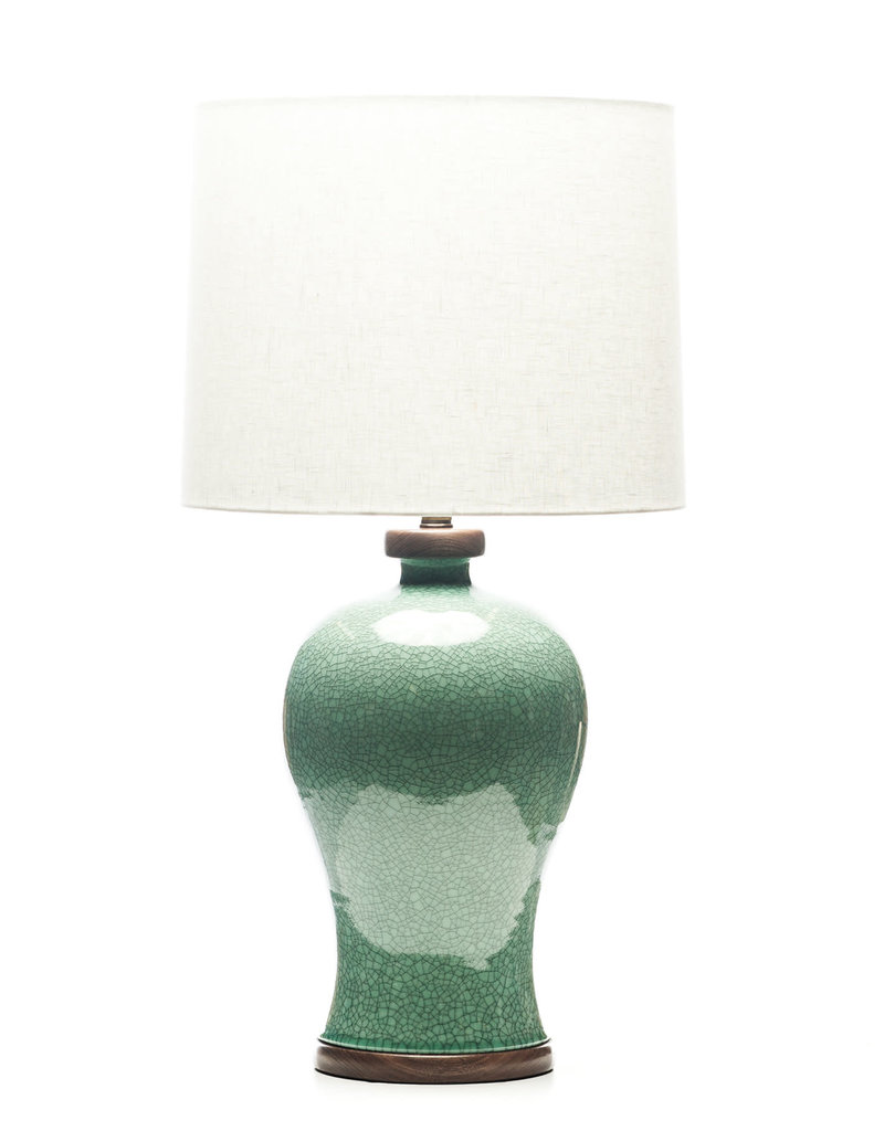 Lawrence & Scott Dashiell Table Lamp in Aquamarine Crackle