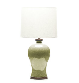 Lawrence & Scott Dashiell Table Lamp in Oyster Crackle (Walnut)